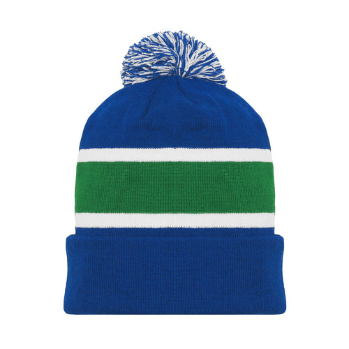 A1830-722 Vancouver Canucks Blank Hockey Beanie Hat