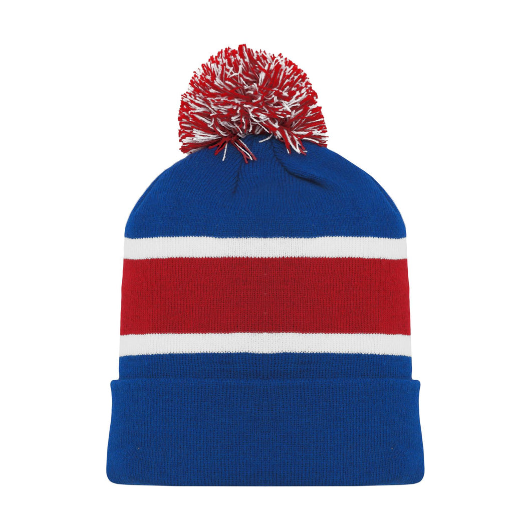 A1830-812 New York Rangers Blank Hockey Beanie Hat