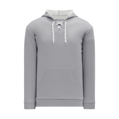 A1834-020 Heather Grey Blank Hoodie Sweatshirt