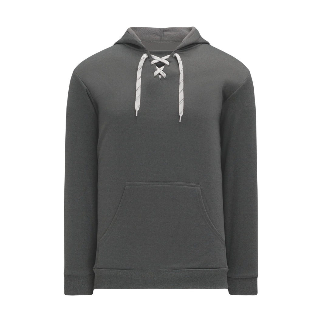 A1834-021 Heather Charcoal Blank Hoodie Sweatshirt