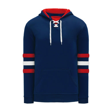 A1845-764 Navy/Red/White Blank Hoodie Sweatshirt