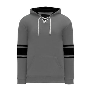 A1845-930 Heather Charcoal/Black Blank Hoodie Sweatshirt