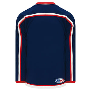 H550B-CLM890B Columbus Blue Jackets Blank Hockey Jerseys