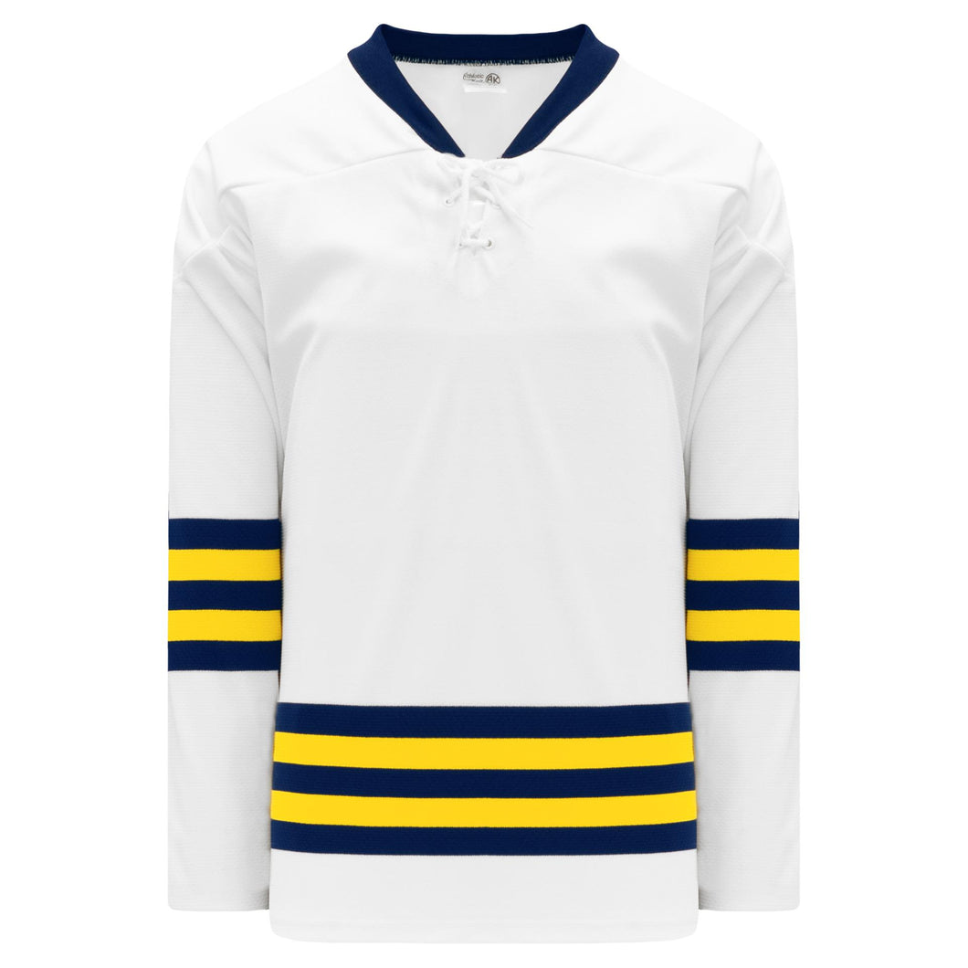 H550B-MIC591B University of Michigan Blank Hockey Jerseys