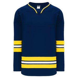 H550B-MIC787B University of Michigan Blank Hockey Jerseys