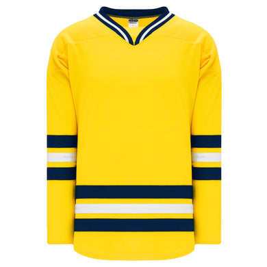 H550B-MIC788B University of Michigan Blank Hockey Jerseys