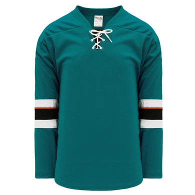 H550B-SAN466B San Jose Sharks Blank Hockey Jerseys