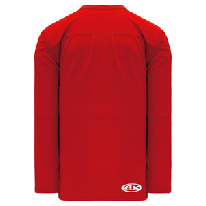 H6000-005 Red Practice Style Blank Hockey Jerseys