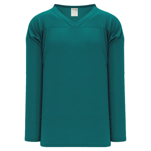 H6000-027 Teal Practice Style Blank Hockey Jerseys