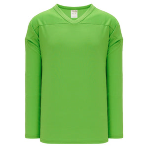 H6000-031 Lime Green Practice Style Blank Hockey Jerseys