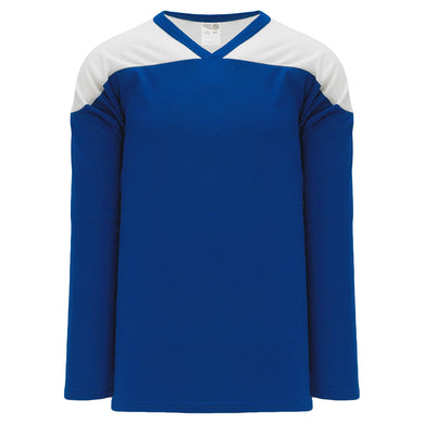 H6100-206 Royal/White Practice Style Blank Hockey Jerseys