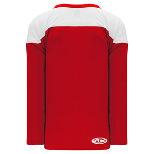 H6100-208 Red/White Practice Style Blank Hockey Jerseys