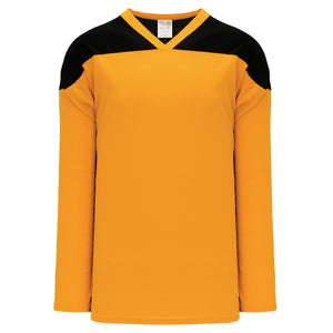 H6100-213 Gold/Black Practice Style Blank Hockey Jerseys