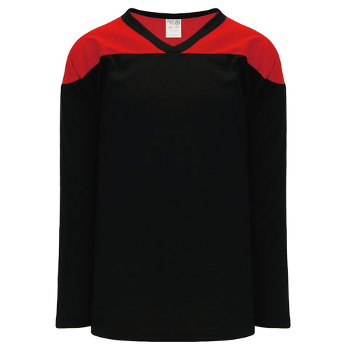 H6100-249 Black/Red Practice Style Blank Hockey Jerseys