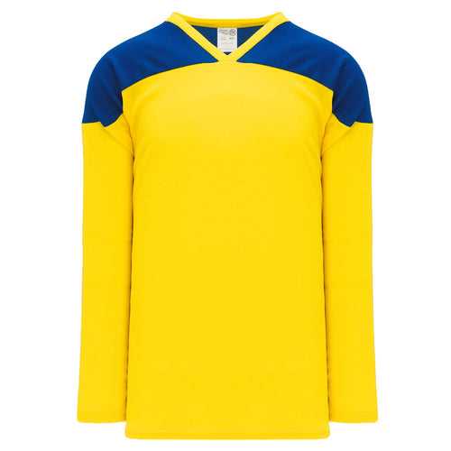 H6100-257 Maize/Royal Practice Style Blank Hockey Jerseys