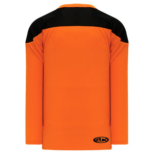 H6100-263 Orange/Black Practice Style Blank Hockey Jerseys