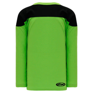 H6100-269 Lime Green/Black Practice Style Blank Hockey Jerseys
