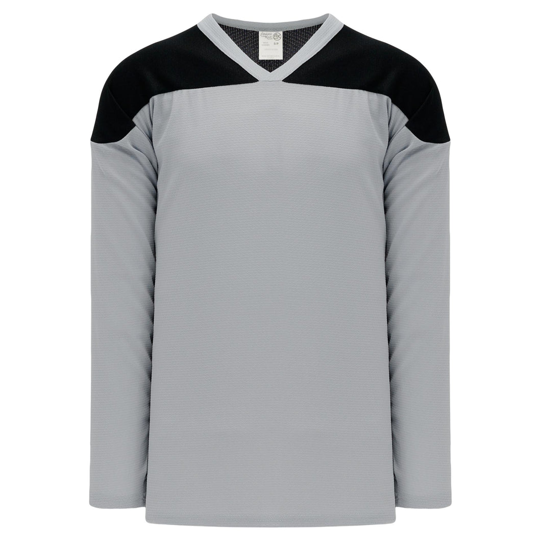 H6100-822 Grey/Black Practice Style Blank Hockey Jerseys