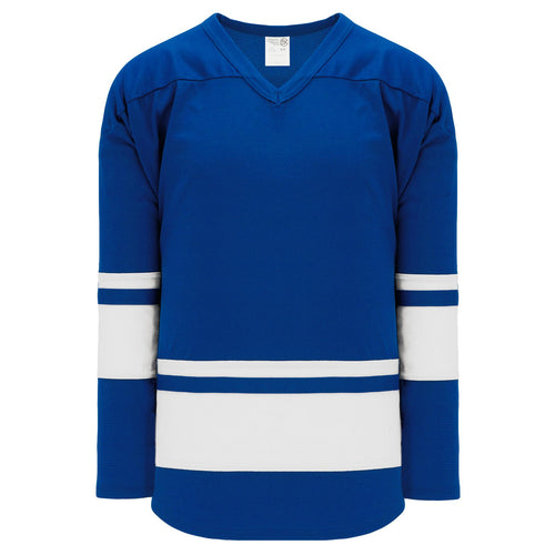 H6400-206 Royal/White League Style Blank Hockey Jerseys
