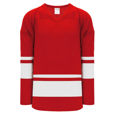 H6400-208 Red/White League Style Blank Hockey Jerseys