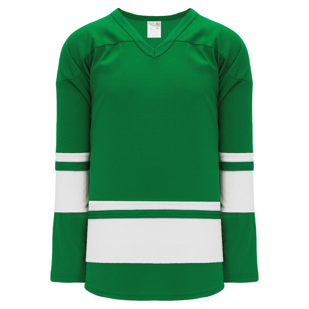 H6400-210 Kelly/White League Style Blank Hockey Jerseys