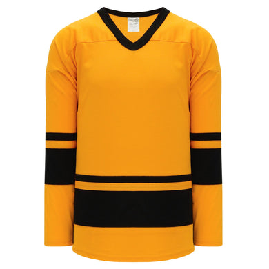 H6400-213 Gold/Black League Style Blank Hockey Jerseys