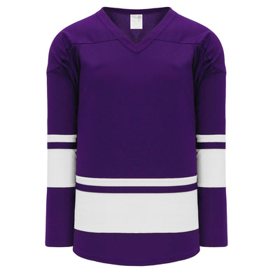 H6400-220 Purple/White League Style Blank Hockey Jerseys