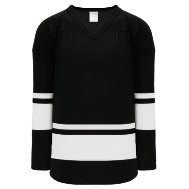 H6400-221 Black/White League Style Blank Hockey Jerseys