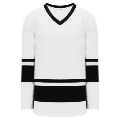 H6400-222 White/Black League Style Blank Hockey Jerseys