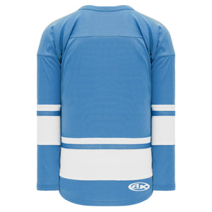 H6400-227 Sky/White League Style Blank Hockey Jerseys