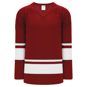 H6400-250 Av Red/White League Style Blank Hockey Jerseys