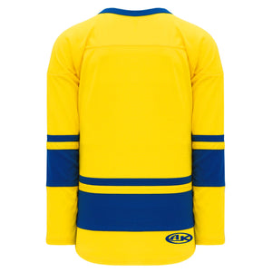H6400-257 Maize/Royal League Style Blank Hockey Jerseys