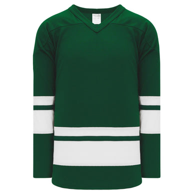 H6400-260 Dark Green/White League Style Blank Hockey Jerseys