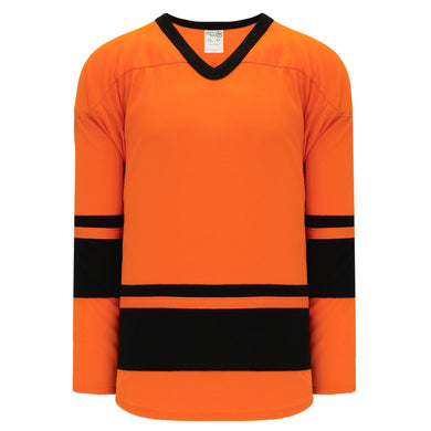 H6400-263 Orange/Black League Style Blank Hockey Jerseys