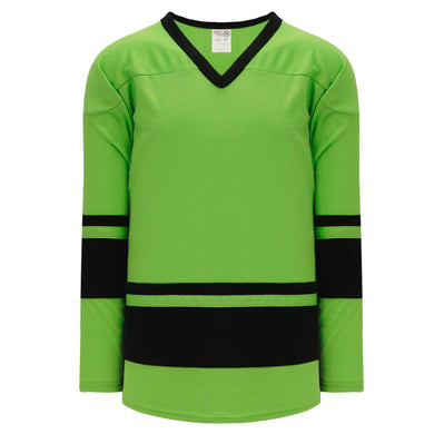 H6400-269 Lime Green/Black League Style Blank Hockey Jerseys