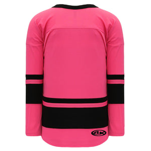 H6400-276 Pink/Black League Style Blank Hockey Jerseys