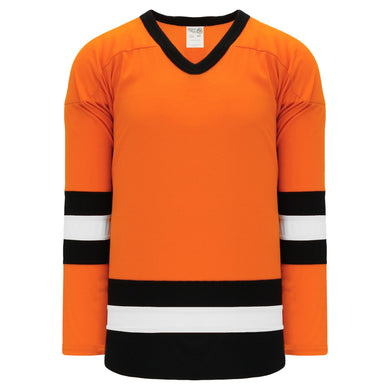 H6500-330 Orange/Black/White League Style Blank Hockey Jerseys