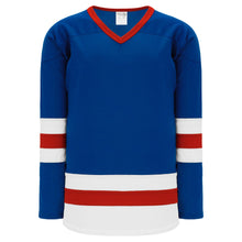 H6500-333 Royal/White/Red League Style Blank Hockey Jerseys