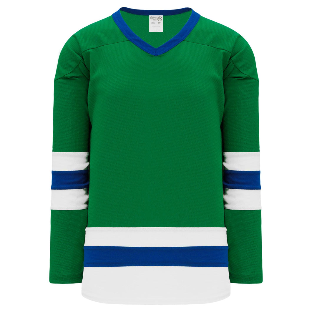 H6500-347 Kelly/White/Royal League Style Blank Hockey Jerseys