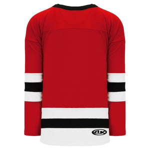 H6500-414 Red/White/Black League Style Blank Hockey Jerseys