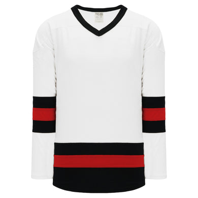 H6500-415 White/Black/Red League Style Blank Hockey Jerseys