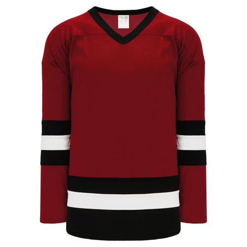 H6500-426 Av Red/Black/White League Style Blank Hockey Jerseys