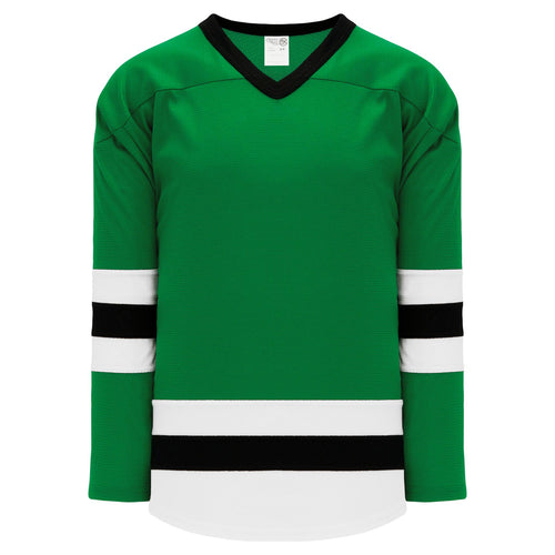 H6500-440 Kelly/White/Black League Style Blank Hockey Jerseys