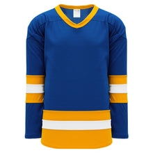 H6500-447 Royal/Gold/White League Style Blank Hockey Jerseys