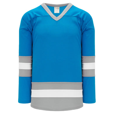 H6500-459 Pro Blue/Grey/White League Style Blank Hockey Jerseys