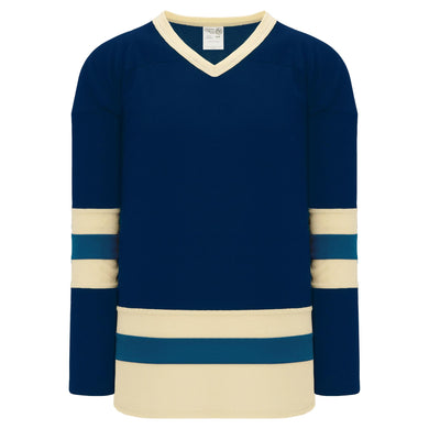 H6500-464 Navy/Sand/Capital League Style Blank Hockey Jerseys
