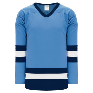 H6500-475 Sky/Navy/White League Style Blank Hockey Jerseys