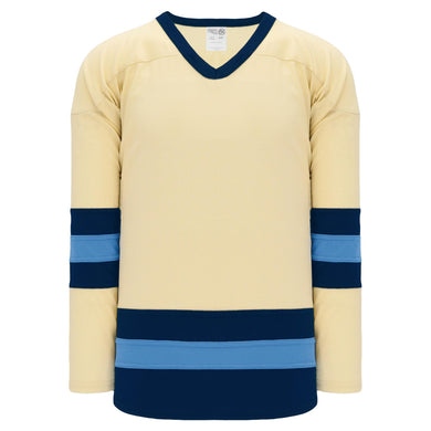 H6500-545 Sand/Navy/Sky League Style Blank Hockey Jerseys