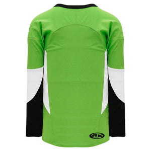 H6600-107 Lime Green/Black/White League Style Blank Hockey Jerseys