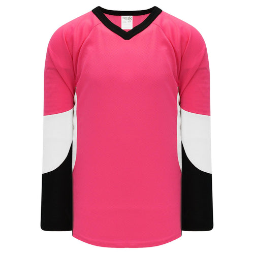 H6600-272 Pink/Black/White League Style Blank Hockey Jerseys